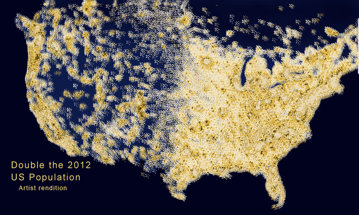 News Those Scary Dots Population In America CAIRCO - Us lights map