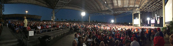 Trump rally in Tampa on October 24, 2016 - estimated 20,000 attendance