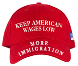 Trump: working to keep American wages low