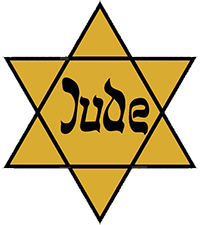 Jude star that Jews were forced to wear in Nazi Germany