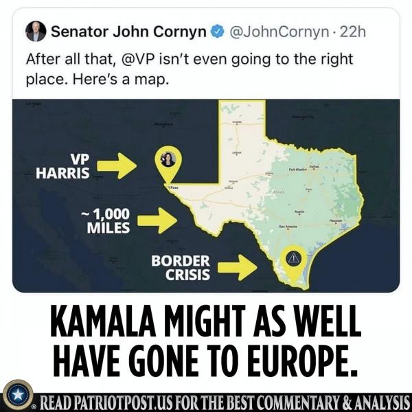 Kamala isn't even going to the right place