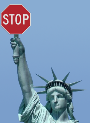 Statue of Liberty - Statue of Limitations - Stop Immigration