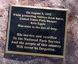 Kris Eggle monument