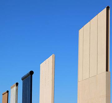 Border wall prototype 2018 - Reuters, Mike Blake