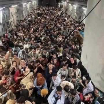 One of the flights out of Kabul